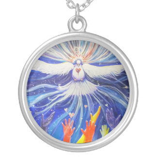Let go and Receive Silver Plated Necklace
