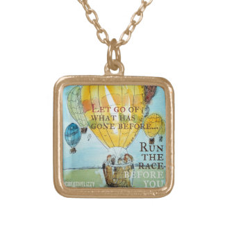 Let Go - Hot Air Balloon Pendant
