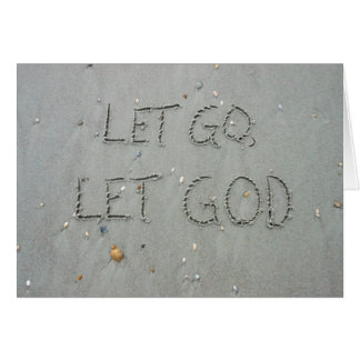 LET GO LET GOD AND TRUST IN THE LORD CARDS