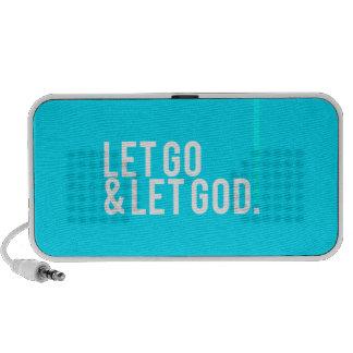 """""""Let go & let God."""" w/Cross iPhone Speaker"""