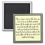 Let go of drama square magnet