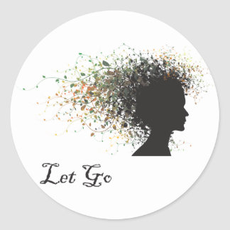 Let Go Yoga Classic Round Sticker