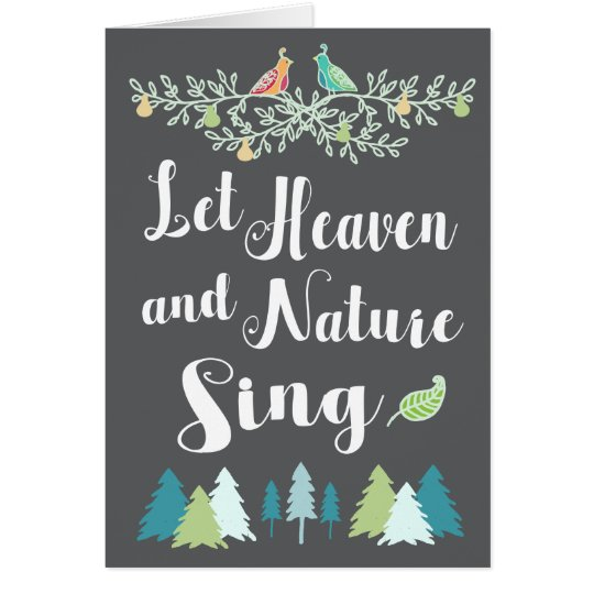 Let Heaven and Nature Sing Christian Christmas Card