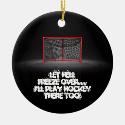 LET HELL FREEZE OVER CHRISTMAS TREE ORNAMENTS