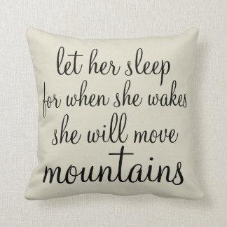 Let her Sleep Pillow Throw Cushion