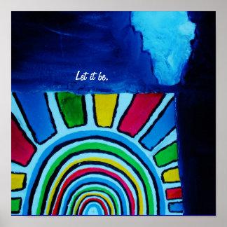 LET IT BE. - GOD POSTER