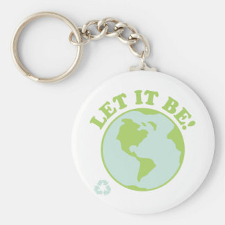 Let It Be Green Earth Keychains