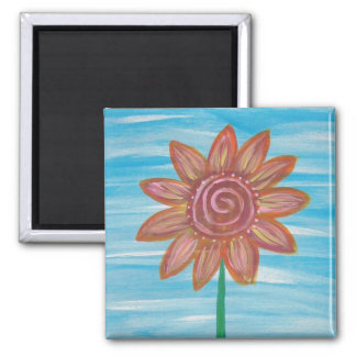 Let It Be Hippie Flower original painting Magnet