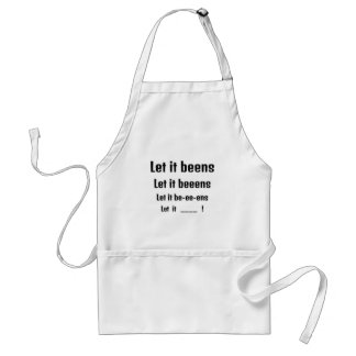 Let it beeens funny gift standard apron