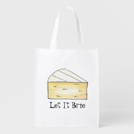 Let It Brie Cheese Wedge Foodie Tote