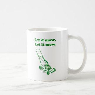 Let it Mow Movie Internet Meme Joke Basic White Mug