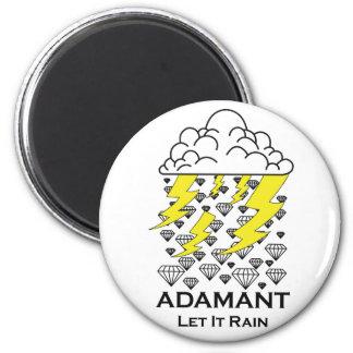 Let it Rain 6 Cm Round Magnet