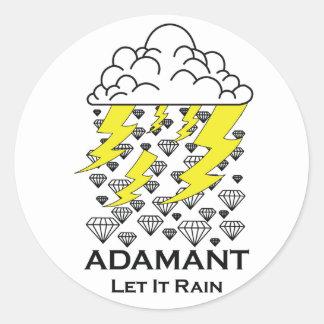 Let it Rain Round Sticker