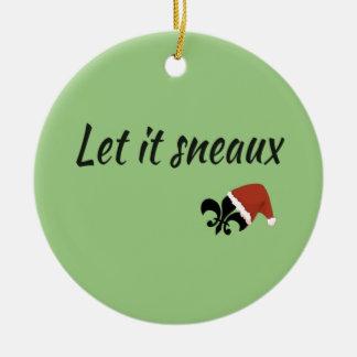 Let It Sneaux Louisiana Cajun Christmas Ornament
