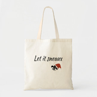 Let It Sneaux Louisiana Cajun Christmas Tote