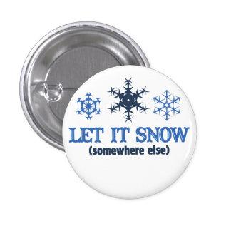 LET IT SNOW 3 CM ROUND BADGE