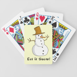 """Let it Snow"" Bicycle Playing Cards"