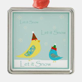 Let it Snow Birdies Ornament