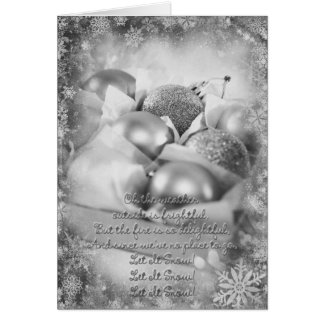 Let it snow black & white Card