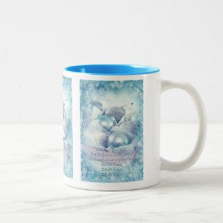 Let it snow blue Christmas Mug