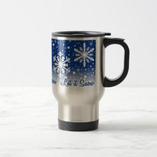 Let It Snow Blue - mug