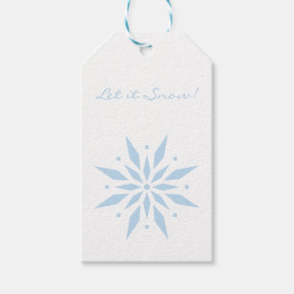 Let it Snow Blue Snowflake Christmas