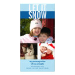 Let it snow bold navy blue Christmas greeting