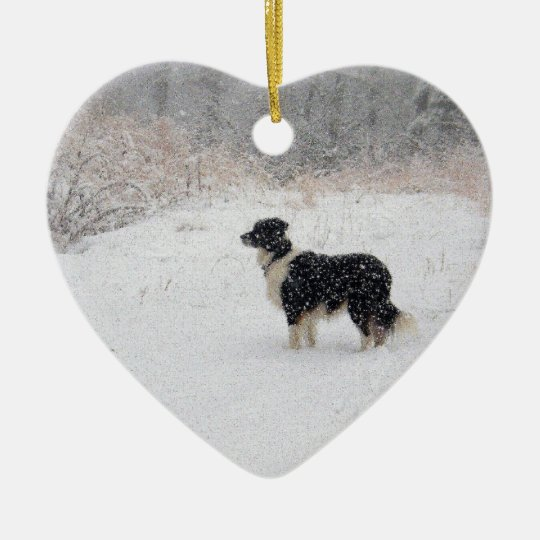 Let it Snow! Border Collie Christmas Ornament