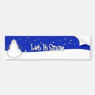 Let It Snow Car Bumper Sticker