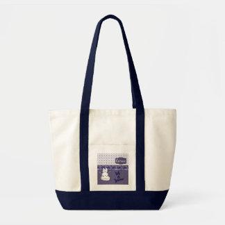 Let It Snow Cat Snowman Tote Bag
