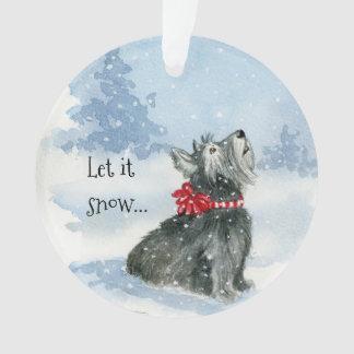 Let It Snow -Celebrate Kadie Circle Ornament