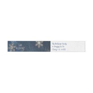 Let It Snow Christmas Address Labels