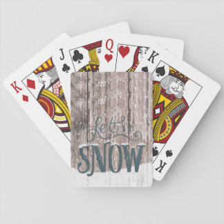 Let it Snow Christmas Holiday winter Playing cards