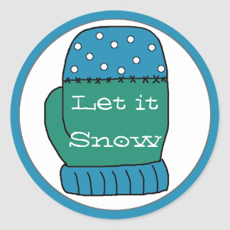 Let it Snow Christmas Stickers
