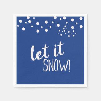 Let it Snow Cocktail Paper Napkins