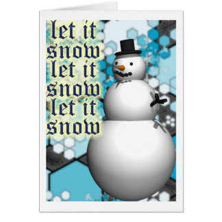 let it snow copy 2_0 greeting card