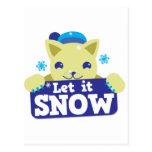 LET IT SNOW cute little kitty