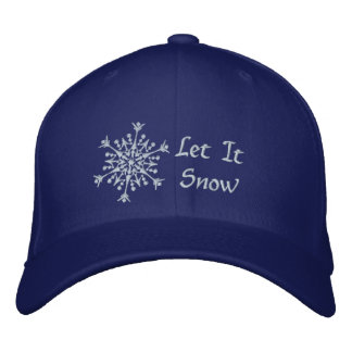 Let It Snow Embroidered Hat