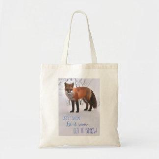 Let It Snow - Fox Tote Bag