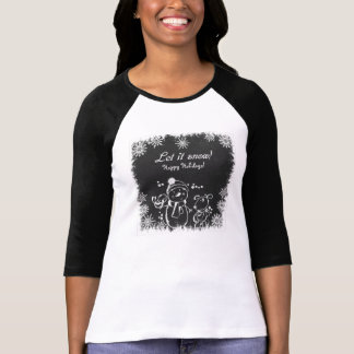 Let It Snow & Happy Holiday Women's T-shirts
