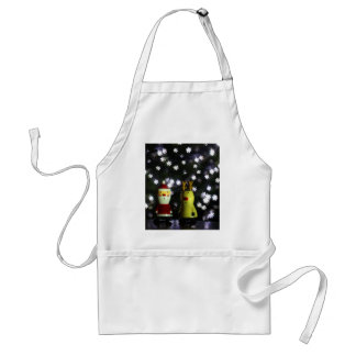 Let it Snow! Happy Holidays with Santa & reindeer Standard Apron