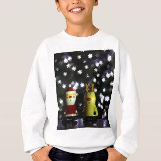 Let it Snow! Happy Holidays with Santa & reindeer Sweatshirt