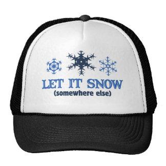 LET IT SNOW MESH HATS