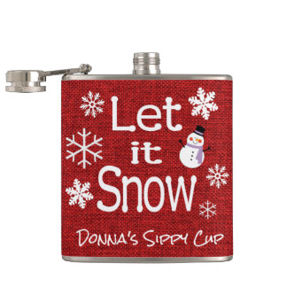 Let it Snow Hip Flask