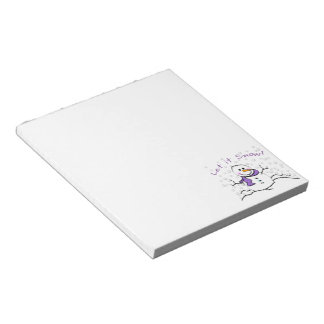 Let It Snow Holiday Notepad