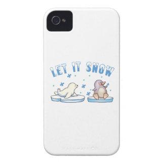 Let It Snow iPhone 4 Case-Mate Case