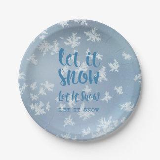 Let It Snow, Let It Snow, Let It Snow! Paper Plate
