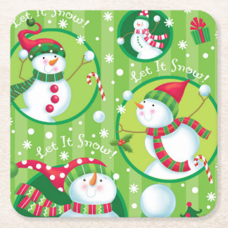 Let it Snow Man Coaster