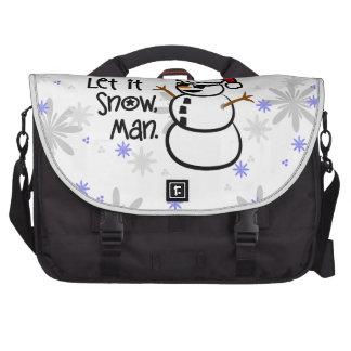 Let it Snow, Man Laptop Bag