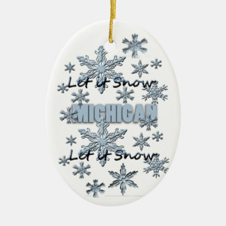Let it Snow Michigan Christmas Ornament